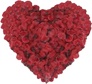 Fake Rose Petals for Romantic Night 3000 PCS, CATTREE Artificial Silk Flowers Faux Petal Vase Home Bedroom Decor Wedding Corridor Bridal Decorations for Bath Wholesale Party Ceremony - Black Red