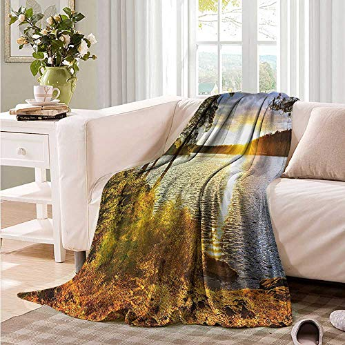 Oncegod Super Soft Blanket Landscape Sunset Forest Canada Recliner Throw,Couch Throw, Couch wrap 93