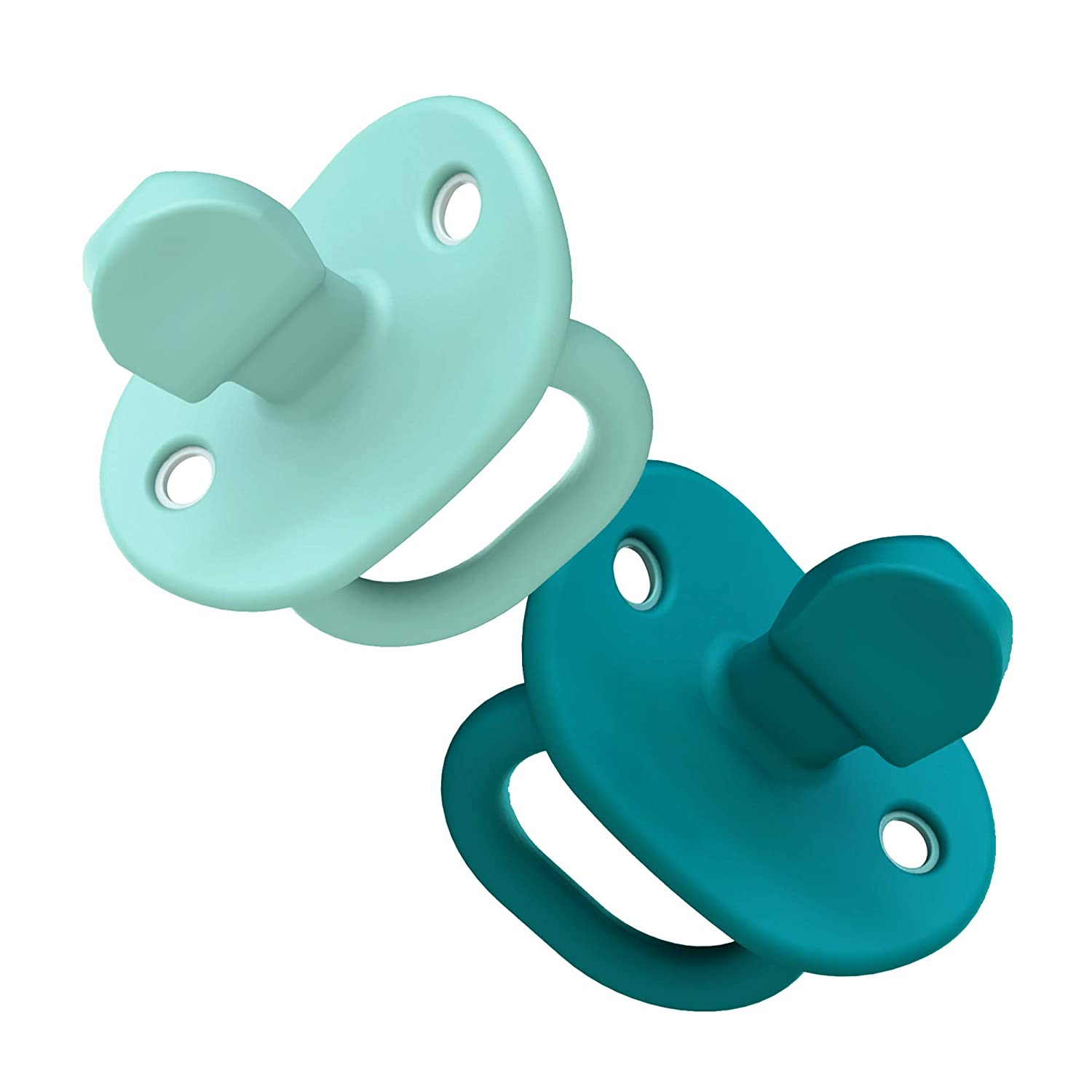 Chicco Physioforma 100/% Soft Silicone Onepiece Pacifier for Babies 16 Months+ Teal Orthodontic Nipple BPA-Free 2Count in Sterilizing Case