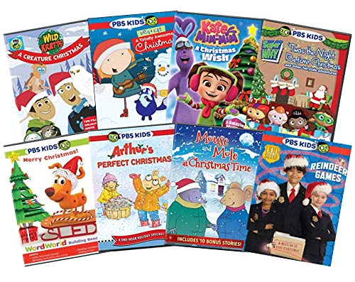 Ultimate PBS Christmas Learning DVD Collection: Wild Kratts / Peg + Cat / Kate and Mim-Mim / Super Why! / WordWorld / Arthur / Mouse & Mole / Odd Squad [Educational 8-Disc Set]