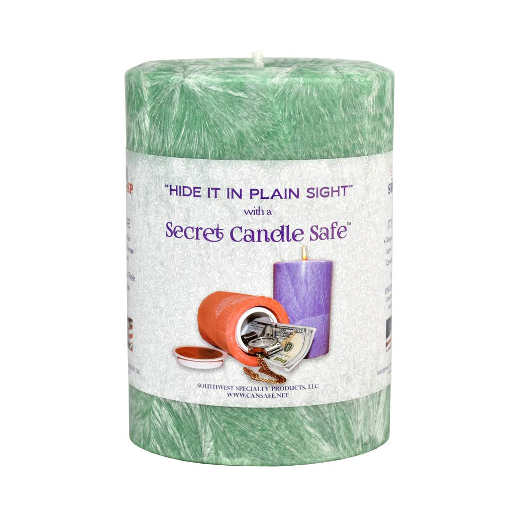 Candle Security Container - 5.5''x4'' / Green by Southwest Specialty Products