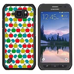 Stuss Case / Funda Carcasa protectora - Patrón trullo Verde Rojo Blanco Limpio - Samsung Galaxy S6 Active G890A