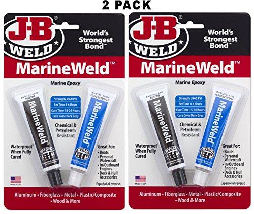 J-B Weld 8272 MarineWeld Marine Epoxy - 2 oz, 2 Sets ()