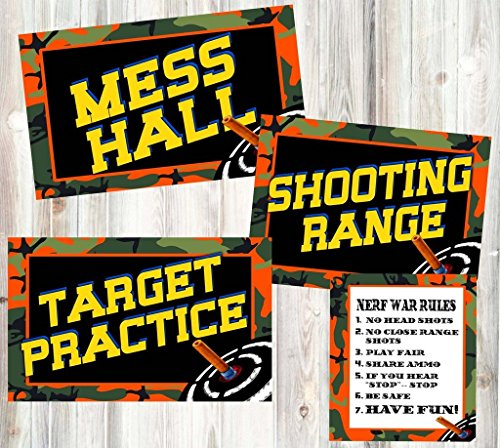 Dart Tag Themed Party Supplies (Posters and Signs)