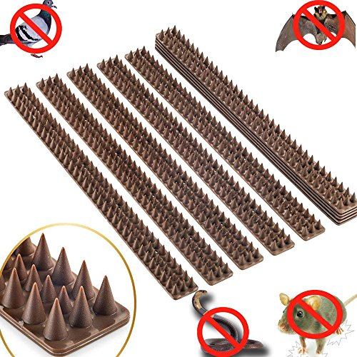 Haierc Plastic Bird Spike,Wild Cat,Fence Spikes,Snake Squirrel Yard Proof Bird Spikes,Pet Repellent Fence for Anti-Climbing Security on Wall Window Railing Plastic Defender 10 X 49cm