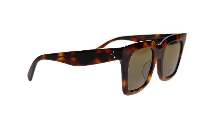 6bece0a8389 Amazon.com  Celine Women Square Sunglasses CL41411 05L Havana Brown Lens  50mm Authentic  Clothing