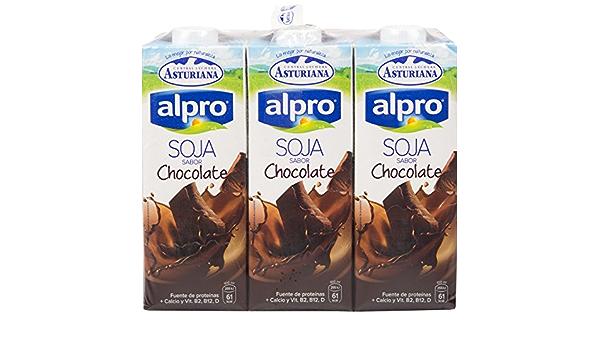 Alpro Central Lechera Asturiana Bebida de Soja Con Chocolate - Paquete de 6 x 1000 ml - Total: 6000 ml: Amazon.es: Alimentación y bebidas