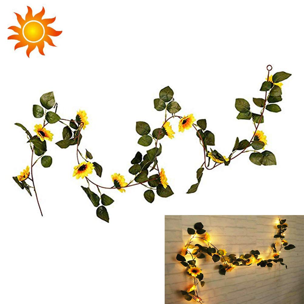 String-Fairy-Lights-With-Sunflowers-Led-Lighted-Fall-Autumn-Pumpkin-Maple-Leaves-Garland-Decor-18M-Artificial-Silk-Flowers-Fall-Decor