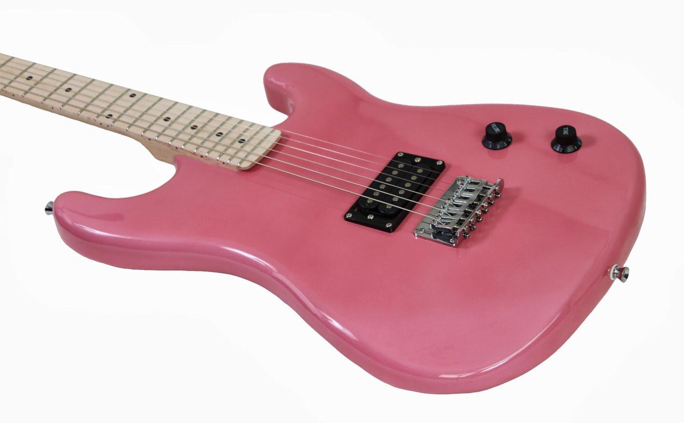Davison Guitars GTR235XCSEPINK Electric Guitar with Case Strap Pics & Pitchpipe Tuner, Pink by Davison Guitars (Image #5)