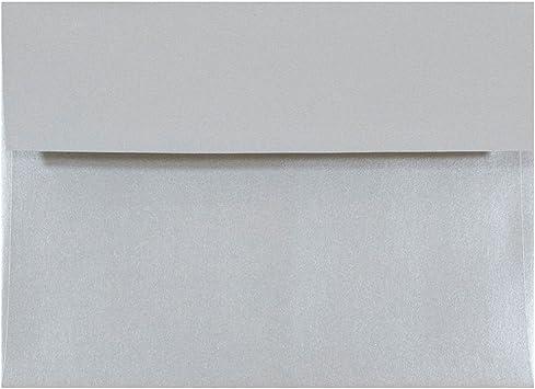 "Square Flap 80# 50 Stardream Metallic Silver A2 Envelopes 4 3//8/"" x 5 3//4/"""