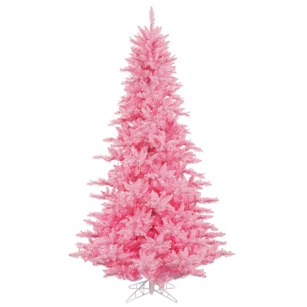 Amazon.com: Vickerman 3' Pink Fir Artificial Christmas Tree with ...