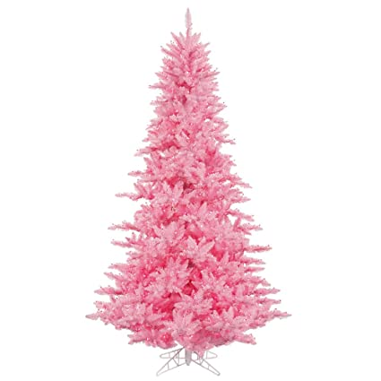 vickerman 3 pink fir artificial christmas tree with 100 pink lights - Amazon Artificial Christmas Trees