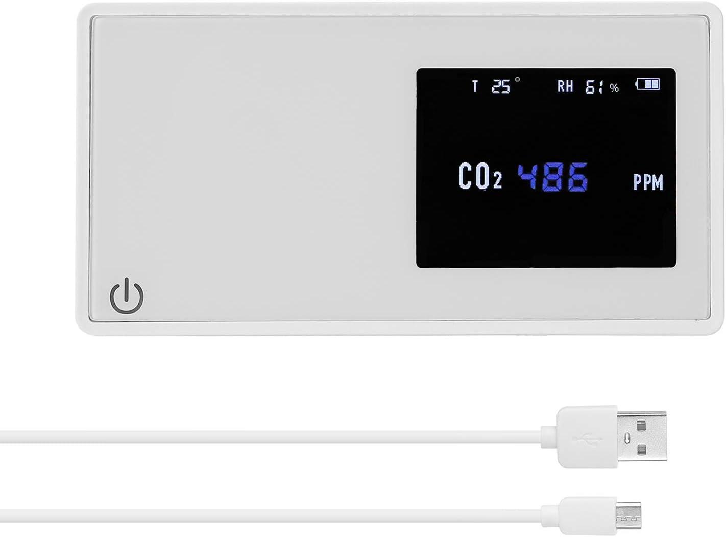 igrometro digitale misuratore di umidit/à e termometro digitale per casa Misuratore CO2 Ndir Tackly Misuratore di CO2 Ambiente Rilevatore di CO2 con misuratore di qualit/à dellaria interna