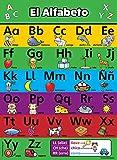 ABC Alphabet Spanish Poster Chart LAMINATED Español Alfabeto Abecedario 18 x 24 LAMINATED
