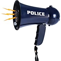 Liberty Imports Police Officer Pretend Play Kids Toy Megaphone with Siren Sounds for Kids