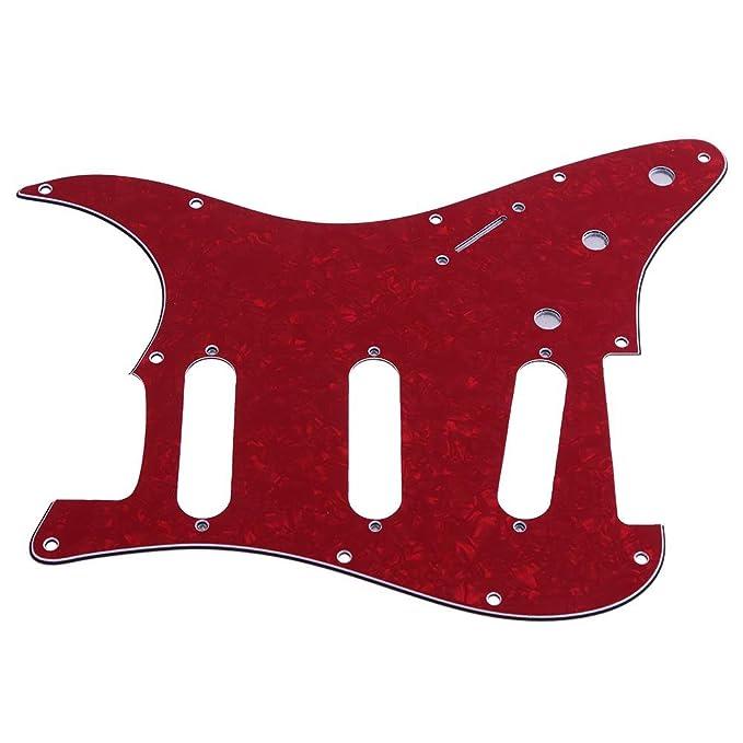 Trendyest SSS - Protector de púas para guitarra (placa trasera para guitarra eléctrica ST): Amazon.es: Instrumentos musicales