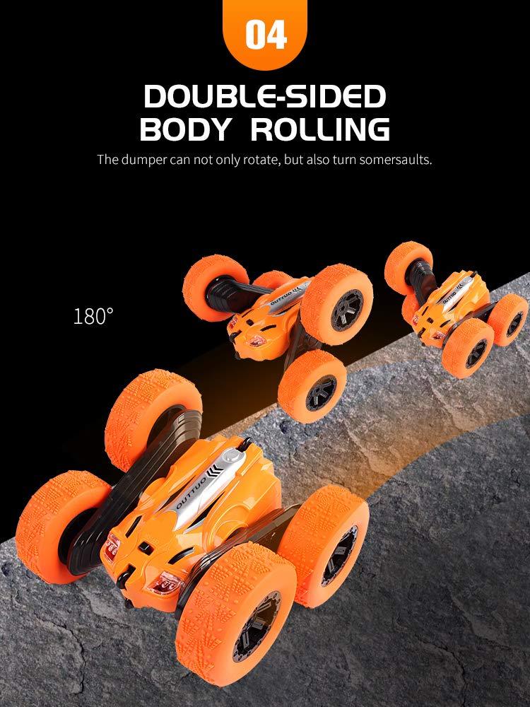 OUTTUO Ferngesteuertes Auto 4WD Auto Spielzeug Rennfahrzeug f/ür Kinder Jungen M/ädchen(Gr/ün) High Speed Spielzeugauto 360/°Spins RC Stunt Auto Rennauto 2.4Ghz Radio Ferngesteuerter Buggy Auto