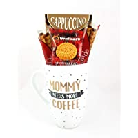 Coffee Mug Gift Basket, Mom Gifts, Coffee Gift Basket Coffee Mug - Perfect Gift For Her. This 22 Oz. Coffee Mug Comes With Barrista Cappuccino Coffee, Four Pirouline Wafers And Walkers Shortbread Cookies