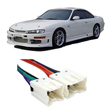 amazon com compatible with nissan 240sx 1995 1998 factory stereo to  nissan 240sx aftermarket wiring harness #11