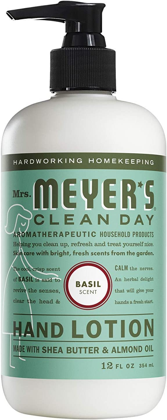 Mrs. Meyer's Hand Lotion, Basil, 12 OZ (Pack - 1)