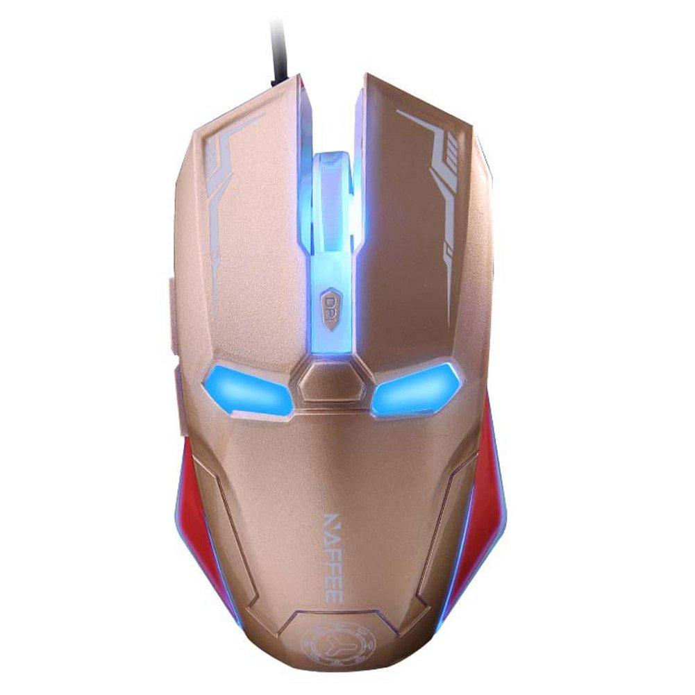 Piedra H 2400dpi G5S Iron Man 6 botones óptico USB Gaming ...