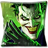 The Joker Batman Character Scary Smiling Green - 16 (40cm) Pillow Cushion Cover by Cushions Corner