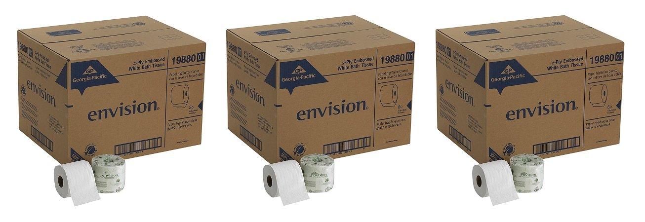 Georgia Pacific Professional 1988001 Bathroom Tissue, 550 Sheets Per Roll (Case of 80 rolls) (240 ROLLS)