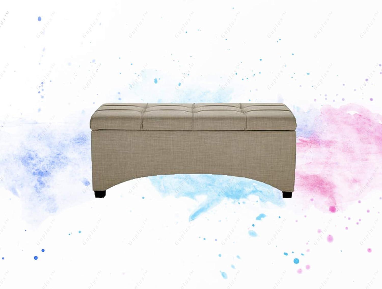 Amazon com: GUPLUS-Pintucked Storage Bench, Multiple Finishes