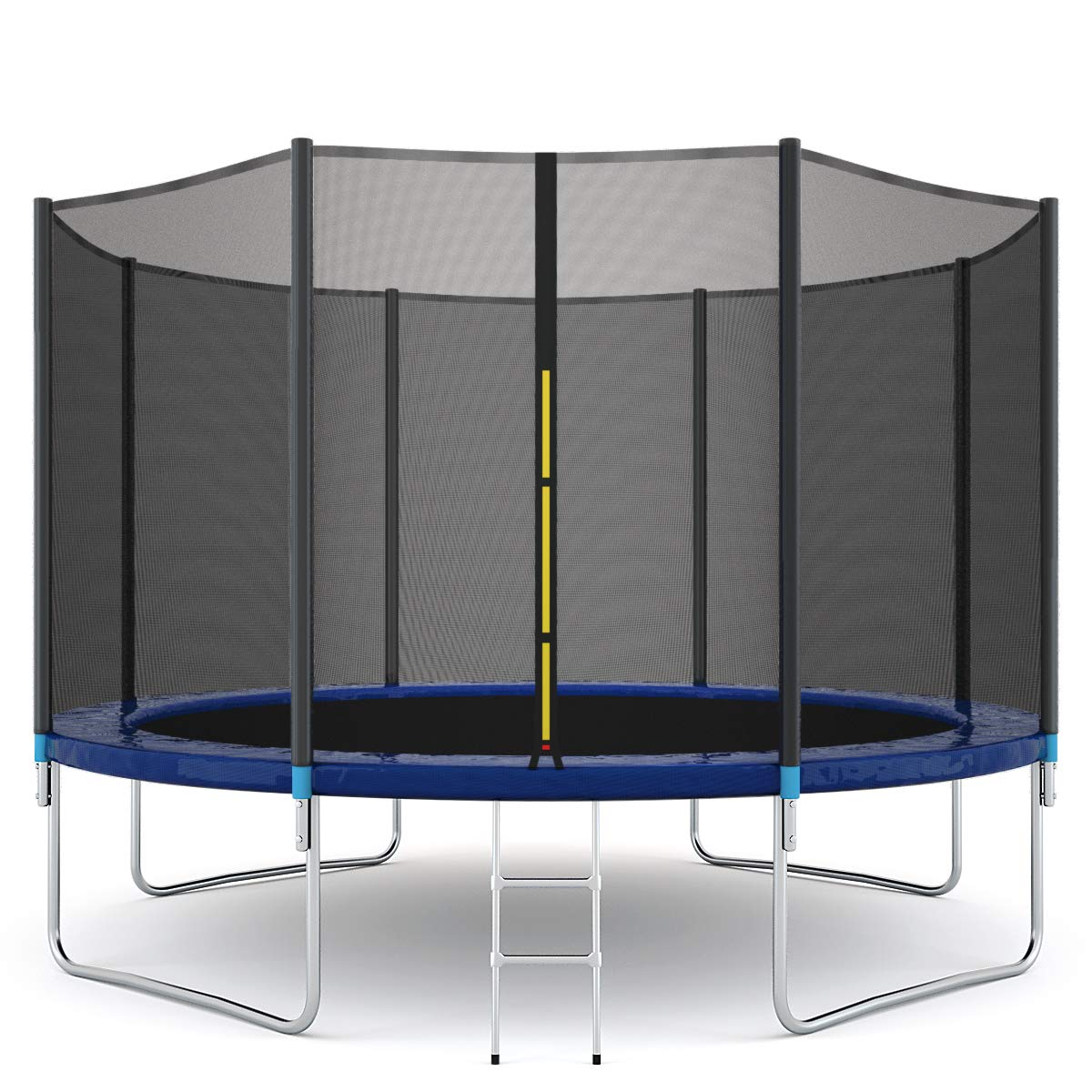 Giantex Outdoor Trampoline Bounce Jumping Trampolines W/Safety Pad Enclosure Net & Ladder,14 FT by Giantex