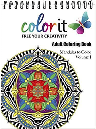 Mandala Coloring Book For Adults With Thick Artist Quality Paper Hardback Covers And Spiral Binding By ColorIt 2015 09 01