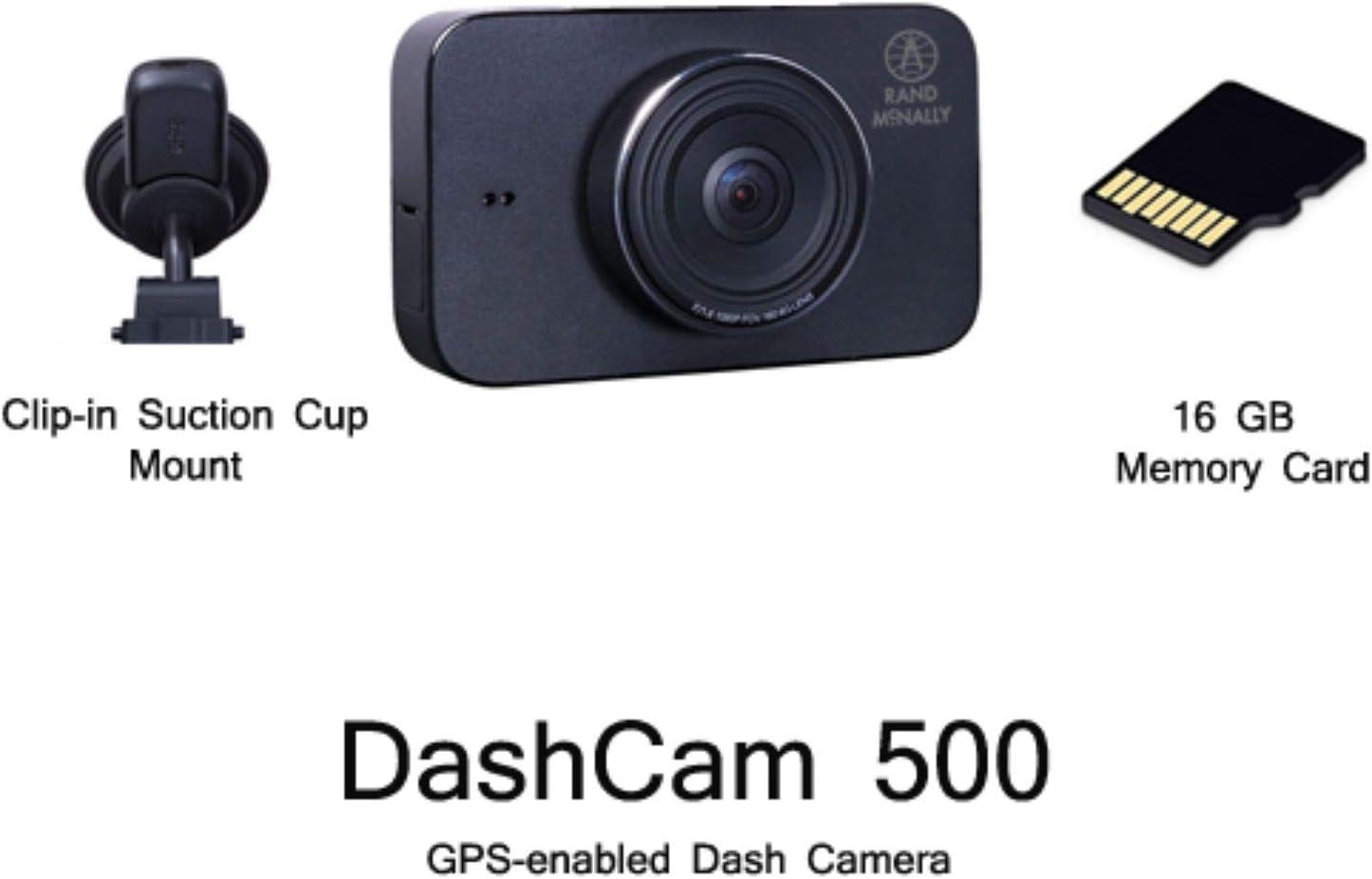 Rand McNally DashCam 500 Wi-Fi-Enabled with 3 Inch Screen 1080p /& G Sensor Renewed