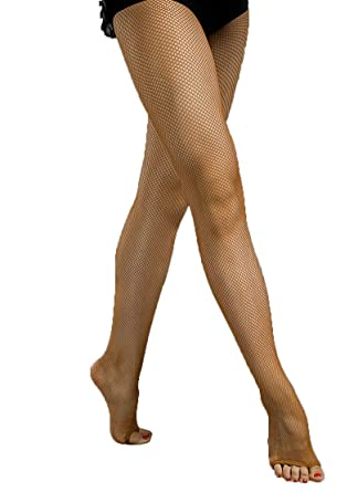 7be9511ab 3C41 Women s Professional Latin Rhythm Dance Tan Toffee Open Toe Fishnet  Tight Stockings ...