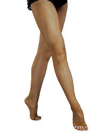 cab3a1ca58a 3C41 Women s Professional Latin Rhythm Dance Tan Toffee Open Toe Fishnet  Tight Stockings ...