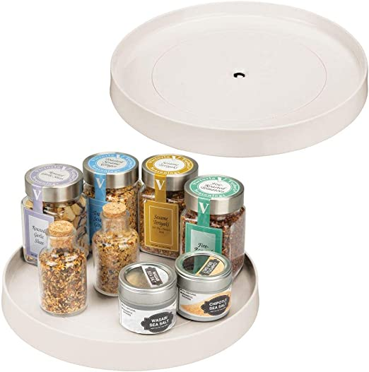 "14/"" Lazy Susan Turntable Kitchen Countertop Bottles Jars Tins Storage Organizer"