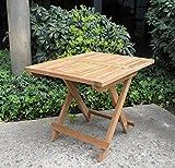 Urban Design Furnishings Folding Teak End Side Table
