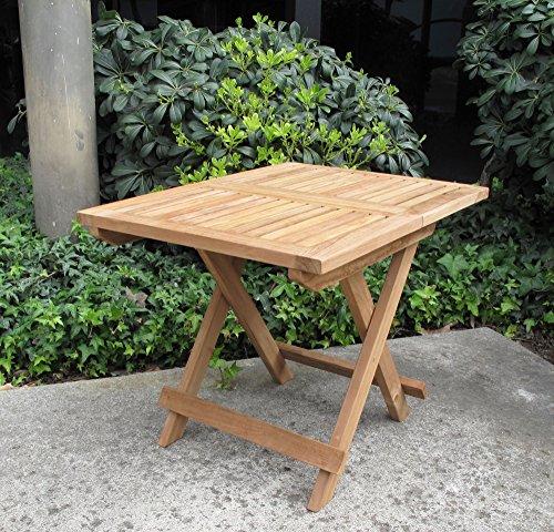 Urban Design Furnishings Folding Teak End Side Table (Plantation Frame Teak)
