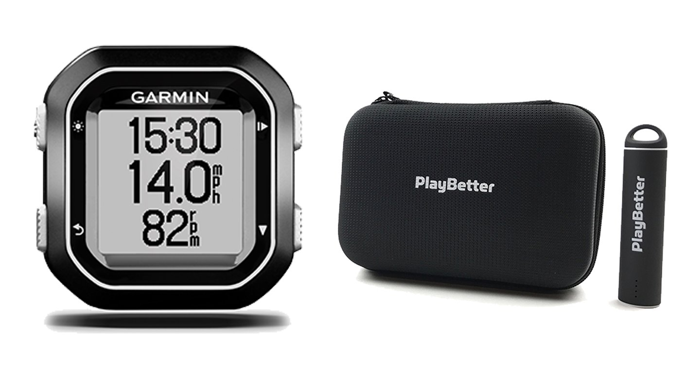 Garmin Edge 25 with PlayBetter Portable USB Charger, Hard Carrying Case, Bike Mount, USB Cable | Power Bundle | World's Smallest GPS Cycling Computer by PlayBetter (Image #1)