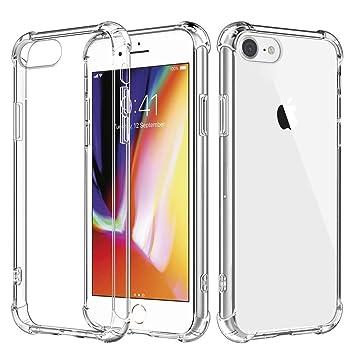 6e1ed4ff9d iPhone 8 ケース iPhone 7 ケース 透明 全面クリア ソフトケース [レンズ保護 耐衝撃