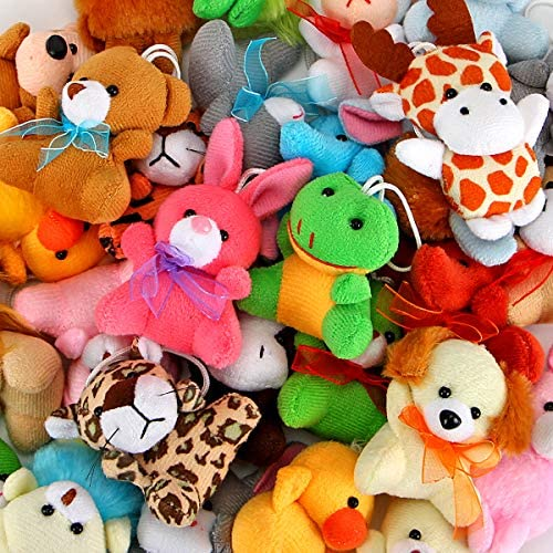 Super Soft Stuffed Animals For Babies, Amazon Com 30 Pack Mini Plush Animals Toys Set Aitbay Cute Small Stuffed Animal Keychain Set For Party Favors Goodie Bag Fillers Carnival Prizes For Kids Prize Box Toy Assortment For Classroom Rewards