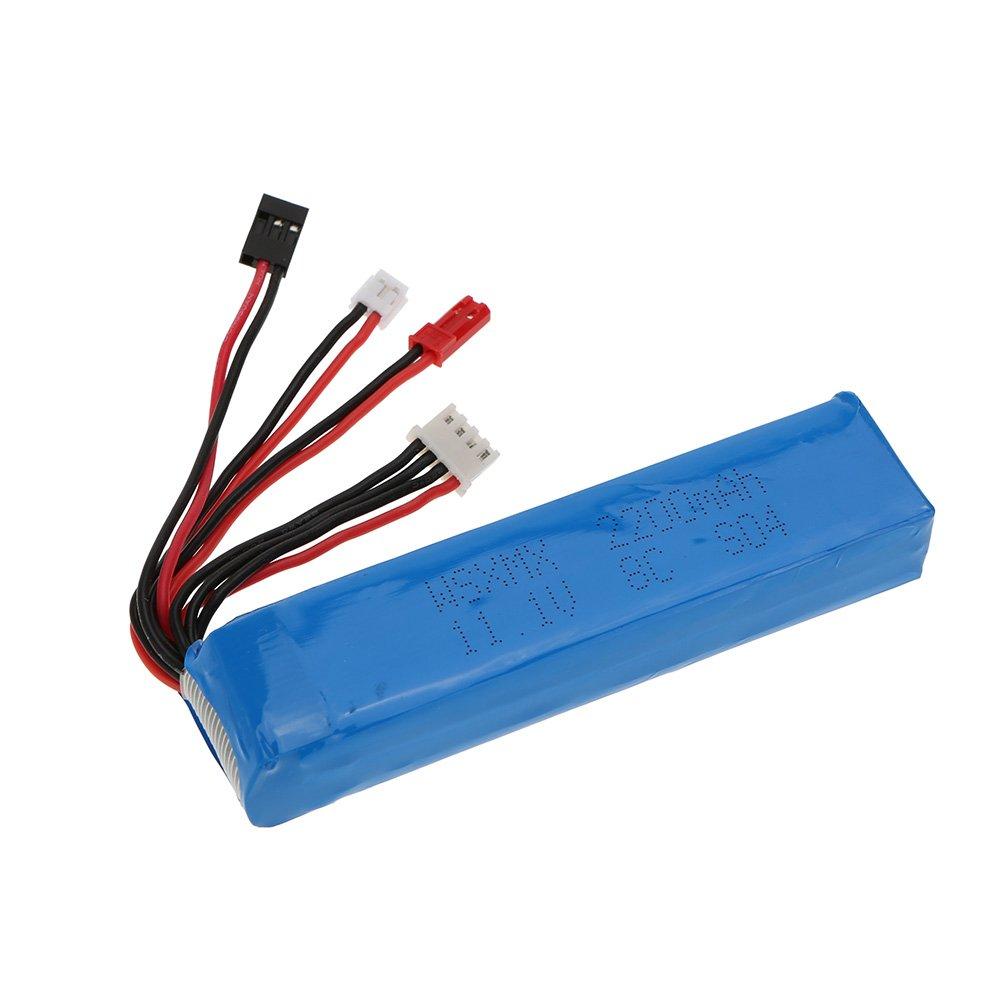 Goolsky Batería Lipo 8C 3S 11.1V 2200mAh 3 Conector para JR Futaba Walkera RadioLink Transmisor: Amazon.es: Juguetes y juegos