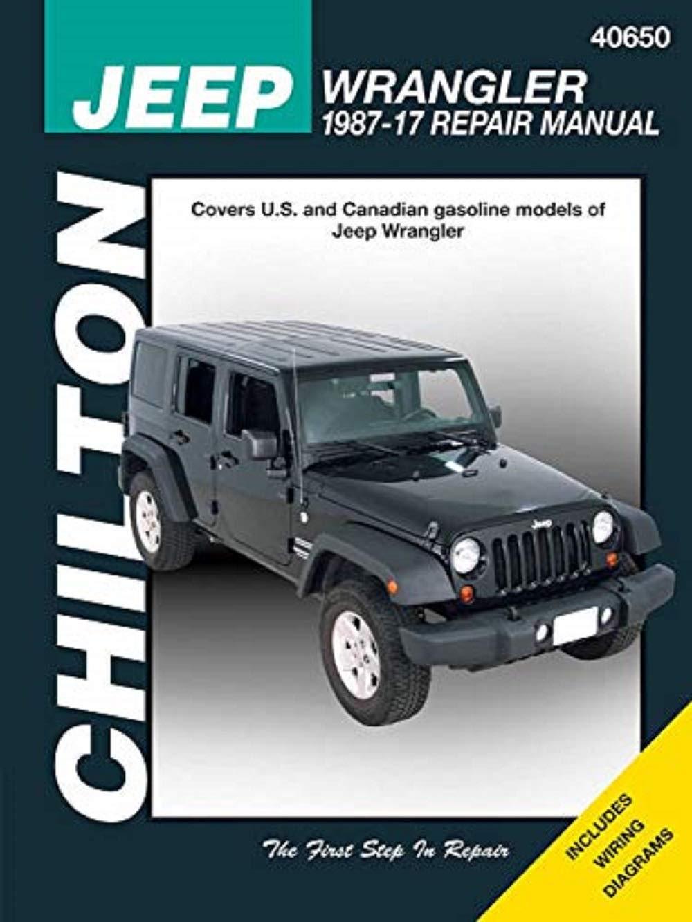 jeep repair diagrams chilton repair manual for jeep wrangler  1987 2017  amazon com books  chilton repair manual for jeep wrangler