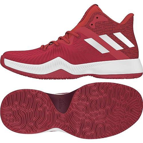 adidas Herren Mad Bounce Basketballschuhe, Rouge VIFBlanc