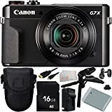 Canon Digital Cameras Best Deals - Canon PowerShot G7 X Mark II Digital Camera 9PC Accessory Bundle. Includes 16GB Memory Card + Replacement NB-13 Battery + AC/DC Rapid Home & Travel Charger + Pistol Grip/Table - International Version (No Warranty)