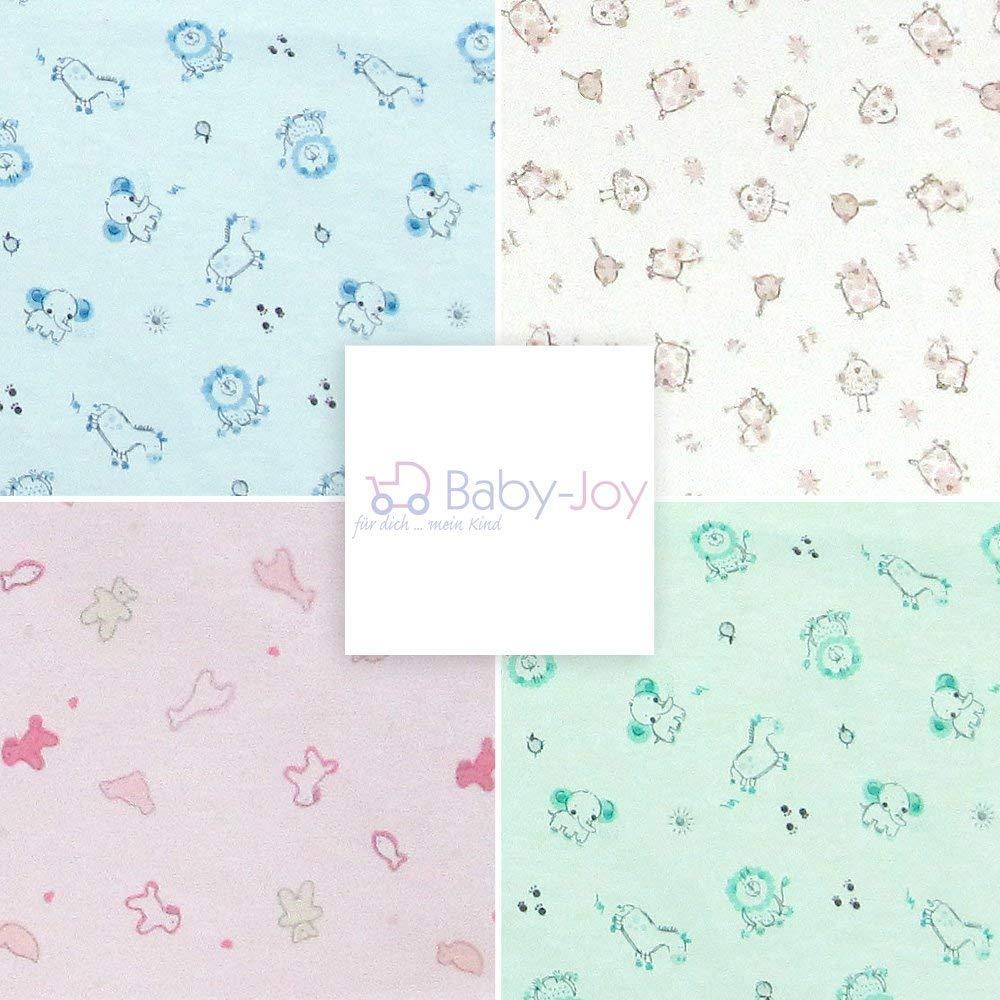 AN1-56-04 Baby-Joy Babyschlafsack Schlafsack Jersey ANNA 50//56cm Winterschlafsack Gr/ün Hellgr/ün