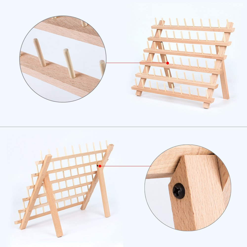 Wooden Sewing Thead Holder Rack for Sewing Embroidery-Suitable for Large Spool Quilting HT-BD003 HAITRAL 30-Spool Thread Organizer