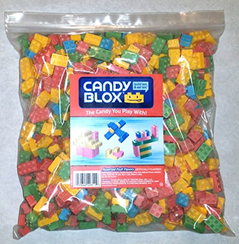 Dubble Bubble Candy Blox Uncoated Assorted Candy, 5 Pounds Build 'Em and Eat 'Em. Includes a Free Product Card
