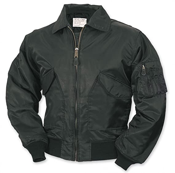ad225ebd7eb Surplus CWU Flight Jacket Black at Amazon Men s Clothing store