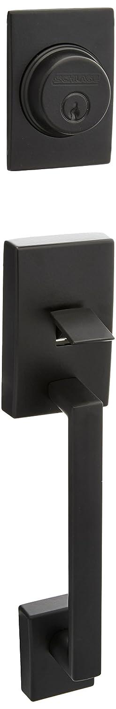 Schlage F92-CEN Century Dummy Exterior Handleset from The F-Series Matte Black