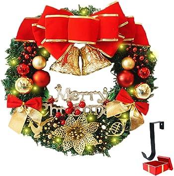 Amazonde Weihnachtskranz Mit Beleuchtung Morbuy
