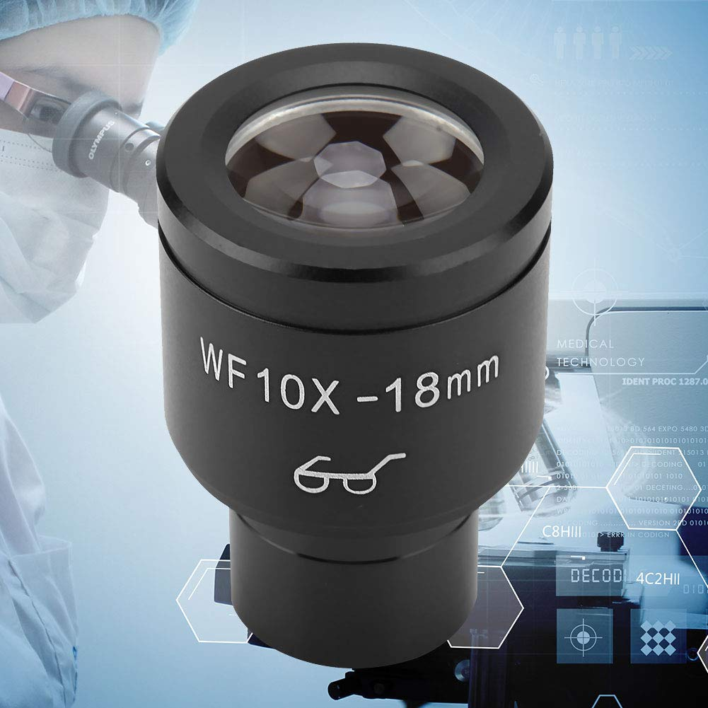 wf002-G Biological Microscope Wide-Angle Eyepiece WF10X//18mm Biological Microscope Wide Angle Hight Eyepiont Eyepiece Lens